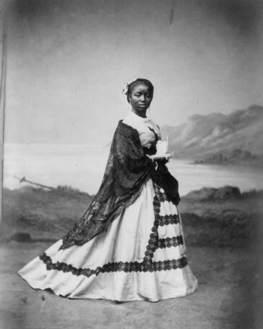 this albumin print of a young afro peruvian woman is in the library of ...