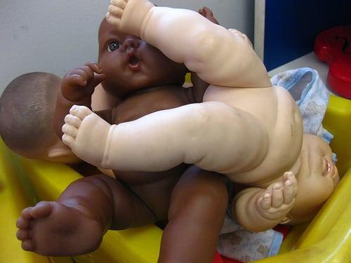 oppressing baby