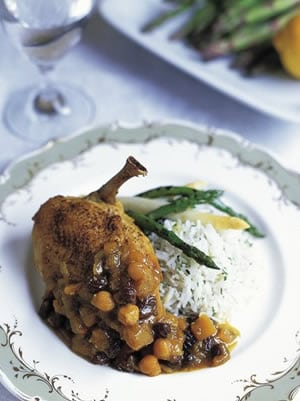 Moroccan Lemon Chicken with Spicy Mango Chutney