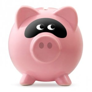 masked piggy bank