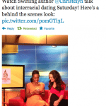 """Me, """"Swirling"""" and BB&W on CNN's HLN Weekend Express. UPDATE: I Taped It!"""