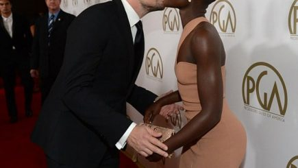 Jared Leto, Leonardo DiCaprio, 12 Years a Slave, awards, red carpet, dating, swirling, gossip, crushes, black woman, dark black woman, beautiful black woman, kisses, romance, media, Lupita Nyong'o