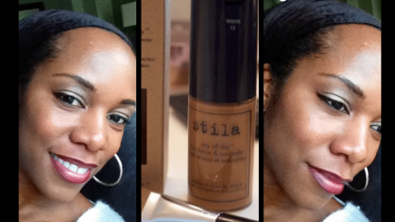 IMATS, Cory Bishop, GLADIOLA, Stay All Day, foundation, Stila, makeup, review, black skin, older skin, brown skin, complexion, t-zone, moisturizer,