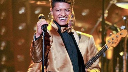 bruno mars, biracial, musician, halftime show, band, singer, performer, artist, rock music, pompadour, football, Superbowl, stage, filipino, asian, puerto rican, mix, ethnic men, stereotypes,