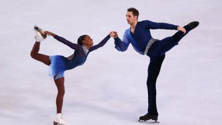 interracial couple, sports, Paris, international, athletes, Olympics, skating, inspiration, black women, Vanessa James, Morgan Cipres, Parisian, skaters, competition, Winter sports,
