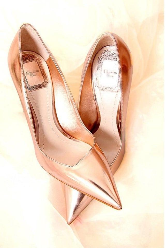 Free-shipping-Spring-summer-2014-new-fashion-women-high-heels-Stars-the-same-paragraph-sheepskin-gold