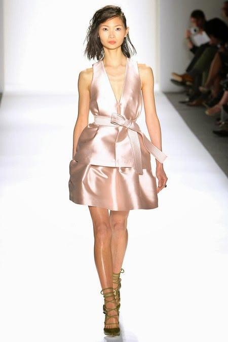 Marissa-webb-spring-2014-rose-gold-metallic-structured-cocktail-dress-new-york-fashion-week-september-2013-rose-gold-fashion-trend