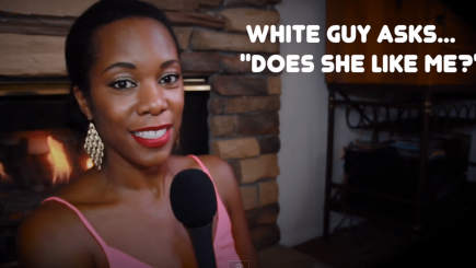 QOTW, dating, video, advice, black women, curious, flirting, workplace dating, does she like me?, youtube, white men, swirlr, swirling, interracial, mixed dating,