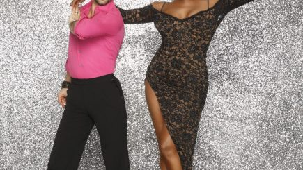 NENE LEAKES. Dancing With the Stars, DWTS, television, entertainment, dancing, competition, black women, interracial couple, fashion, style, TONY DOVOLANI