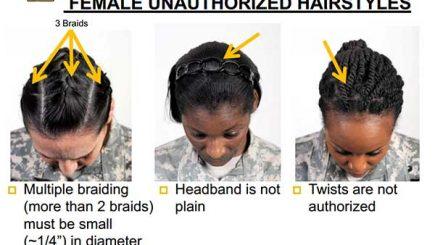 black women's hair, AR 670-1, fashion, hair styles, military, servicewomen, braids, weaves, natural hair,