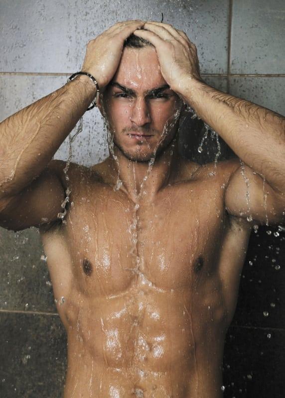 Image result for guy in shower