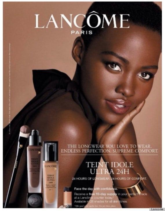 LUPITA-NYONGO-LANCOME, makeup, marketing, advertisement, beauty, black woman, dark skinned woman, campaign,