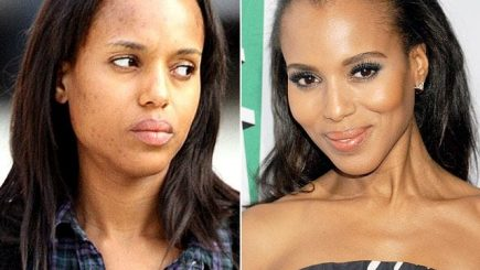 skin care, makeup, celebrities, MAC, black women, style, routine, lips, eyes, foundation, dark skinned black women, Kerry Washington, Tyra Banks, Rihanna, Michelle Obama,