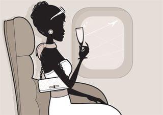 BW airplane silhouette