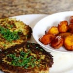 Delish Vegetarian Zucchini Fritters and Plantains!