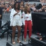 Michelle Obama and Tina Knowles Jamming and Stylishly Taking the Heat