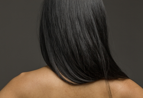 image of african american woman with long beautiful hair